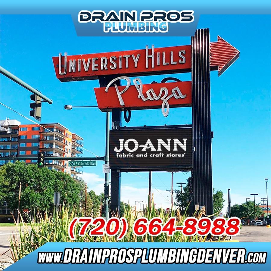 Plumber Denver University Hills Co